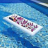 LAD Barra de servir inflable, para barbacoa, picnic, piscina, fiesta, buffet, refrigerador, para interior y exterior, verano, playa, picnic, flotante, juego de flotador