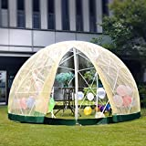 Patiolife Garden Dome with PVC Cover and Mesh Cover - Geodesic Dome 9.5ft - Bubble Tent with Door and Windows for Sunbubble, Backyard, Outdoor Winter & Summer, Party