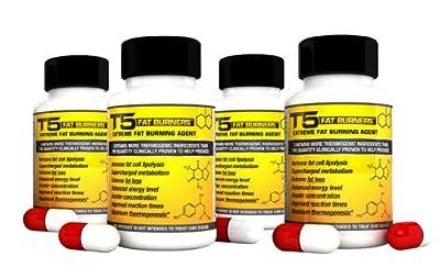 x4 Original T5 Fat Burners : Maximum Strength Slimming/Weight Loss/Diet Pills (4 Month Supply)