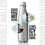 GJZ Frasco de vacío con Aislamiento de Doble Pared Botella de Agua de Acero Inoxidable Termo Libre para Botellas de Agua Deportivas