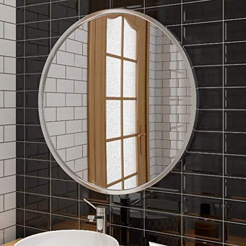 BJYX Dekor-Moderne Art-Kreis-Rahmen-Wand Schwimm runde Wand-Glas - Wandhalterung dekorative Metallrahmen, for Einfahrten, Washrooms, Eitelkeit, Living Rooms (Color : Sliver, Size : 70cm)