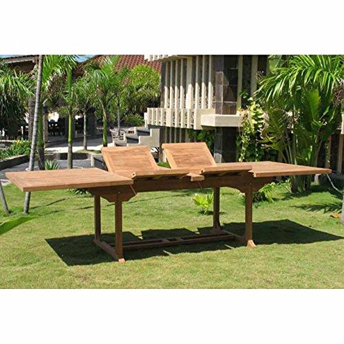 OUTLIV. Ontario Tavolo allungabile da giardino in legno di teak, 195/295 cm, resistente alle intemperie