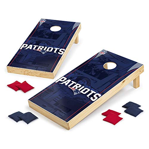 Wild Sports NFLCornhole Outdoor Game Set 2 x 3 Foot Recreational Series