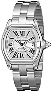 Cartier Men's W62025V3 Roadster Stainless Steel Automatic Watch