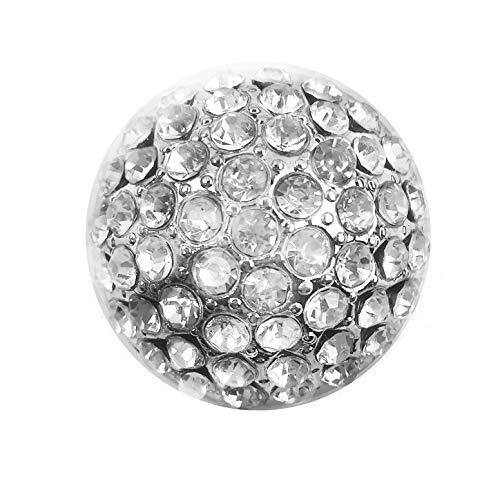 Treend24 Damen Magnet Brosche Strass Kugel Silber Schal Clip Bekleidung Magnetbrosche Poncho Taschen Stifel Textilschmuck Eule Herz stern …