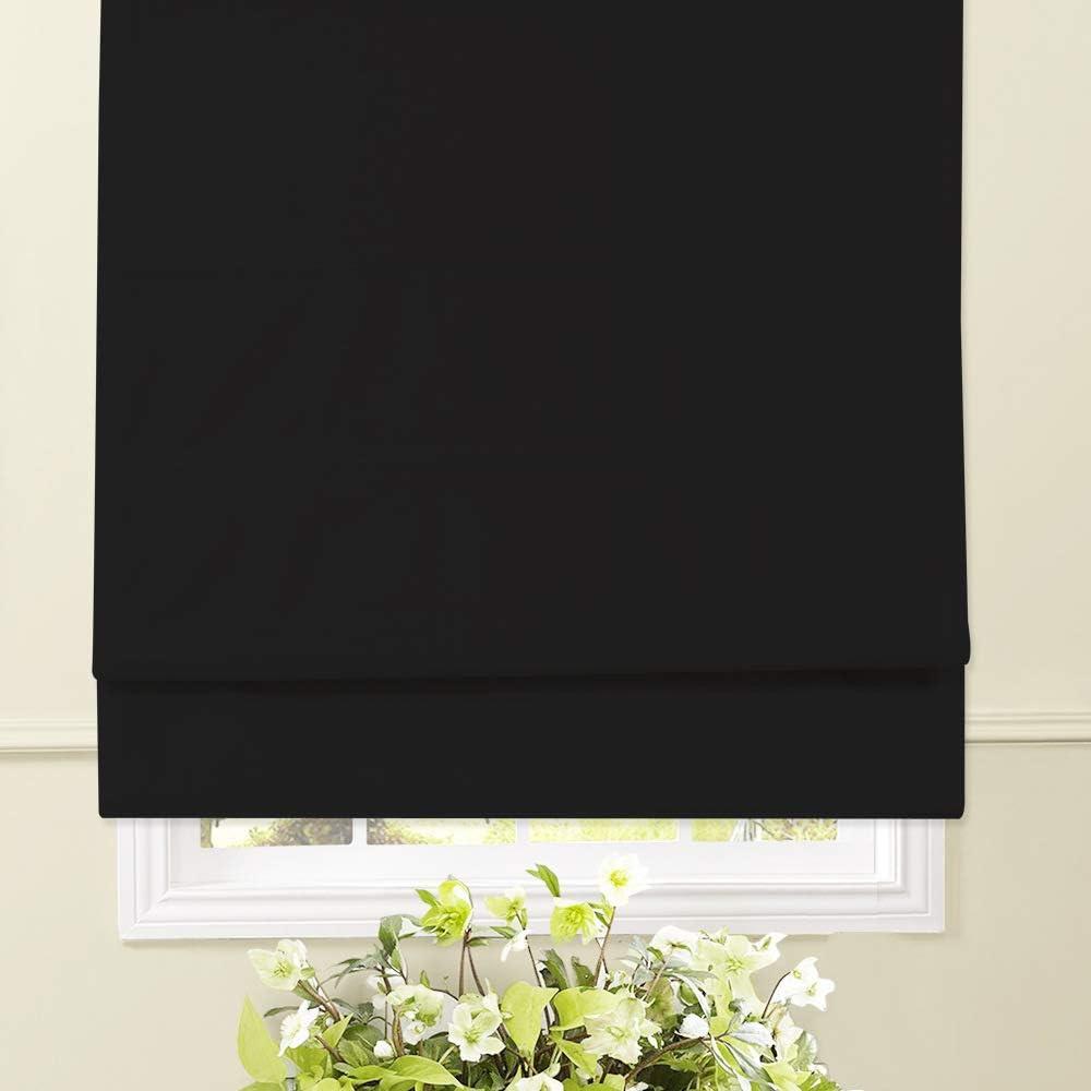 Artdix Roman Shades Blinds Window - Black 60 W Regular dealer Sacramento Mall 39 H x Inc