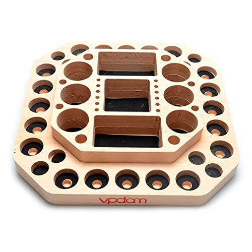 Esmoking Shop VPDAM Dampfständer Holz Tisch Ständer, Holder, Box für Verdampfer, Akkuträger, Drip Tip E Zigaretten