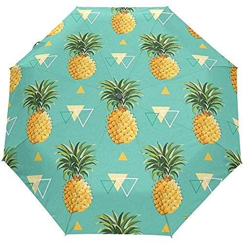 Ananas paraplu geel groen auto open parasol parasol UV-bescherming opvouwbaar compact scherm