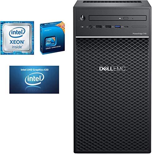 2020 Dell PowerEdge T40 BTX Powerful Premium Business Tower Server Intel Quad-Core Xeon E-2224G up to 4.7GHz 8GB DDR4 UDIMM RAM 1TB 7200 RPM SATA HDD UHD P630 DVD RW NO Operating System Aloha Bundle