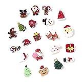 21 Piezas Broche de Navidad Incluye Santa Muñeco de Nieve, Oso, Árbol de Navidad, Reno, para Tema Navidad, Accesorios para Disfraces, Estilos Mixtos