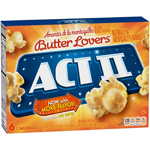 Lowest Price! ACT II Butter Lovers Microwave Popcorn 2 boxes - 6 full-size bags in each (12 bags all...