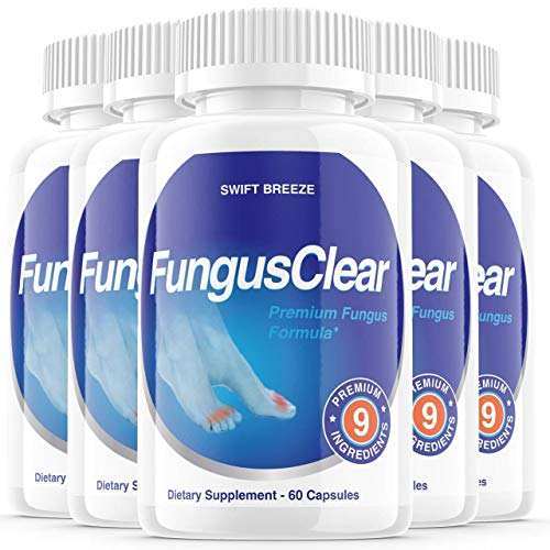 (5 Pack) Fungus Clear Pills, Fungus Clear Nails Plus - for Strong Healthy Nails (300 Capsules)