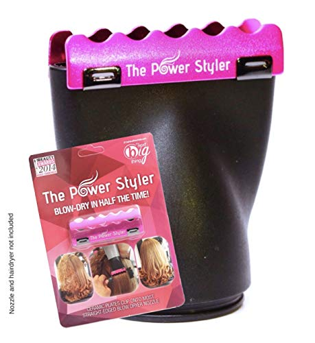 The Power Styler Blow Dryer Comb Attachment for Straight, Smooth, Shiny, and Frizz Free Volumized Hair - Attaches to Standard Hair Dryer Nozzles and Gives Professional Salon Results