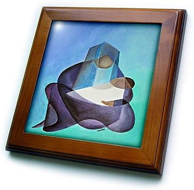 3dRose ft/_14145/_1 Betta Fish-Framed Tile 8 by 8-Inch
