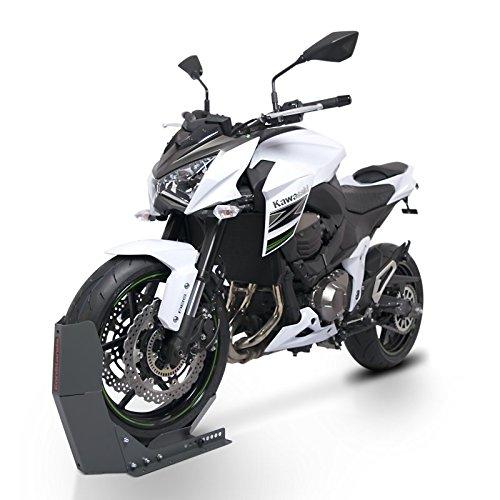 ConStands Easy Transport Fix - Motorrad Wippe Kompatibel für Anhänger Vorderrad Transportständer Motocross Roller ConStands Easy Transport-Fix grau matt