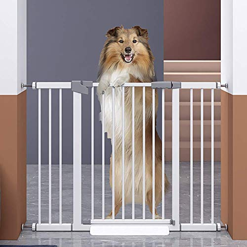 ZPLHX Extra Span Walk through Baby Gate, Indoor Freestanding Pet Gate, Big Pet Puppy Safety Fence for the House, Doorway, Stairs, Pet Puppy Safety Fence - (125-174);103CM