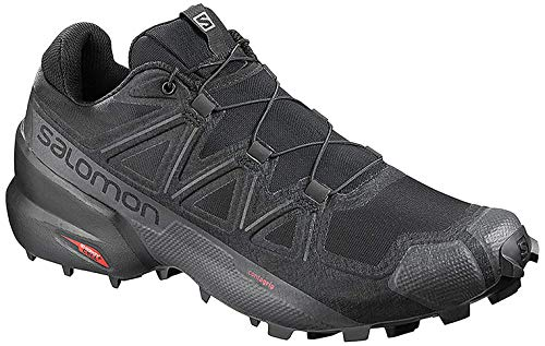 Salomon Women's Speedcross 5 Trail Running Shoes, Black/Black/PHANTOM, 8.5
