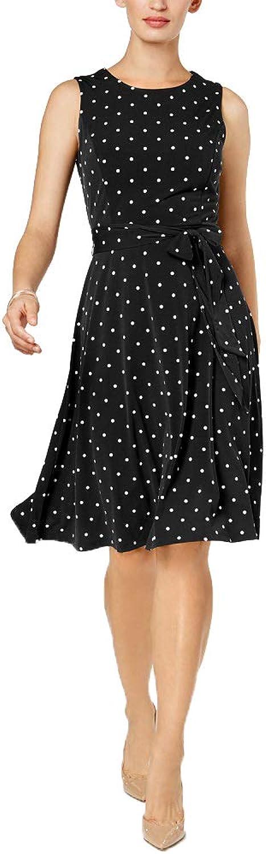 Charter Club Petite DotPrint Fit & Flare Dress