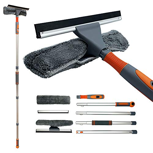 Window Cleaning Kit, Professional Window Cleaning Equipment, 158cm Extendable Window Cleaning Pole...