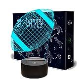 QpenguinBabies Lampe LED à illusion d'optique en 3D avec câble USB, 7 couleurs changeantes