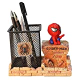 Spiderman Pen Holder, BREIS Creative Novelty Office Desk Decorations Man boy Girls Gadgets Stationery Storage Box Unique Gifts for Spiderman Fans (Red-A)