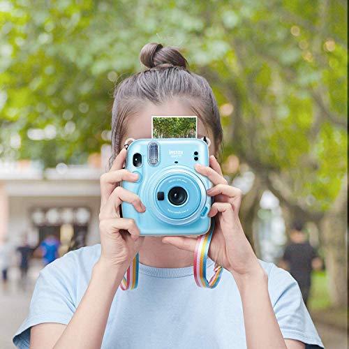 FINTIE Custodia per Fujifilm Instax Mini 11 - Protettiva Borsa in Cristallo PVC con Tracolla Regolabile, Crystal Clear