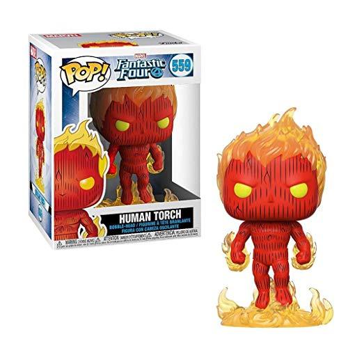 C S POP x Fantastic Four! Human Torch/Susan Figure Comic Collectible Statues Bobbleheads Bust Figure - 3.9inch image
