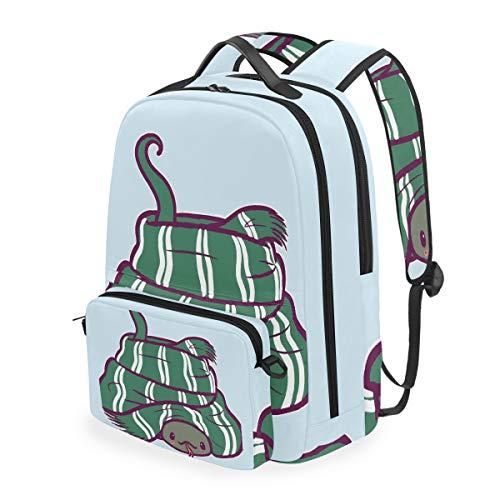 DOSHINE Mochila de Viaje Desmontable, Divertida, Bonita, con diseño de Serpiente, para la Escuela, para Hombres, Mujeres, niños y niñas