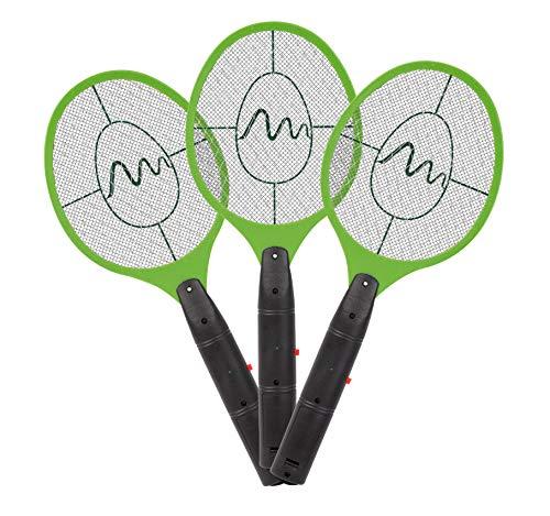 Gardigo - Matamoscas Eléctrico Raqueta Exterminadora Mosquitos y demás Insectos; 3 Unidades