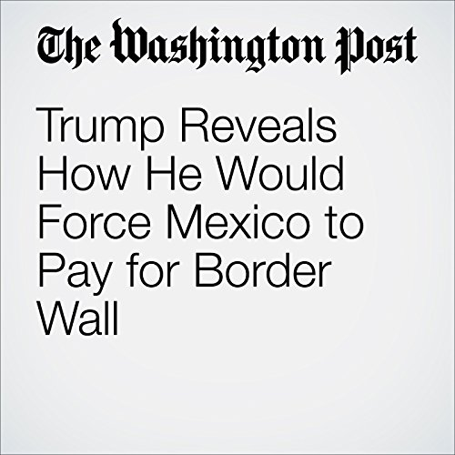 Trump Reveals How He Would Force Mexico to Pay for Border Wall audiobook cover art