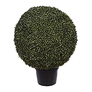 House of Silk Flowers Artificial Boxwood Ball Topiary (24-inch)