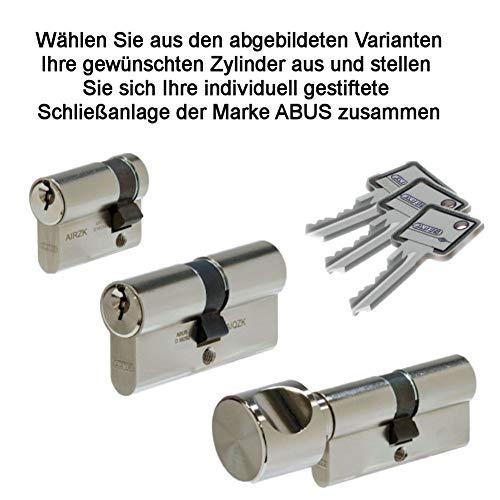 WeRo- Schließzylinder für gleichschließende individuell gestifftete Schließanlagen der Marke ABUS Zusatzschlüssel gefräst