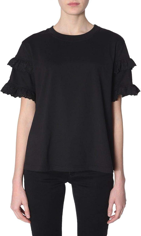 MCQ BY ALEXANDER MCQUEEN Women's 555487RMH191000 Black Cotton TShirt
