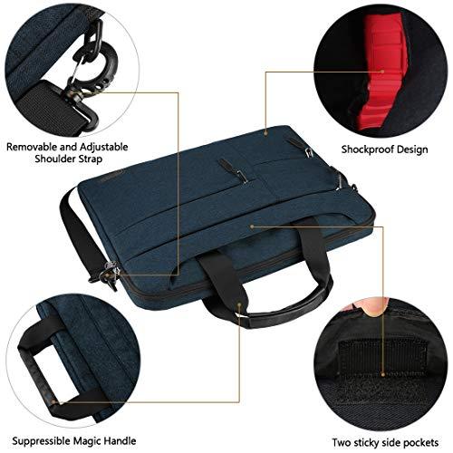 NUBILY Laptoptasche Herren Aktentasche Schultertasche 14 Zoll Business Arbeitstasche wasserdichte Umhängetasche Notebooktasche für Frauen Männer