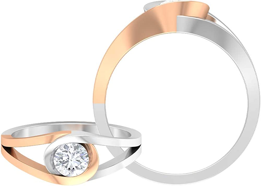 Solitaire Engagement Ring Split Shank Wedding CT 0.5 Deluxe Quality inspection Soli