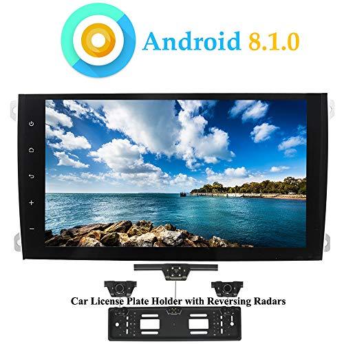 XISEDO Android 8.1.0 Autoradio 9' Quad Core In-dash Car Radio Navigatore GPS per Porsche Cayenne (2003-2010) (con Carta Targhetta Auto con Radar di Parcheggio)