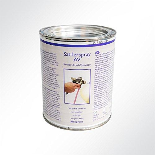 SABA Sattlerspray AV Kontaktkleber für Leder, Textilien, Himmelstoff, Edelstahl Spritz-Kleber 1000ml