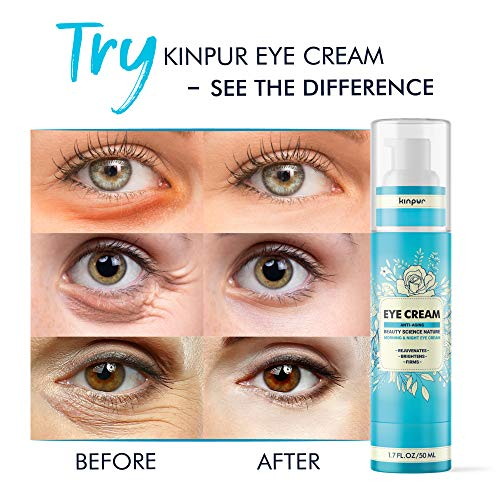 51ktyVFo7oL - Best Under Eye Cream for Dark Circles and Puffiness - Anti-Aging and Moisturising Effect for Bags, Wrinkles, Fine Lines, Crow's Feet, 1.7 oz