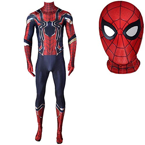 The Amazing Spiderman Cosplay Kostüme Film Anime Fans Jumpsuits Superheld Masquerade Zentai Lycra Onesies Halloween-Party-Bodysuit,Kids M(125~135cm)-Spiderman