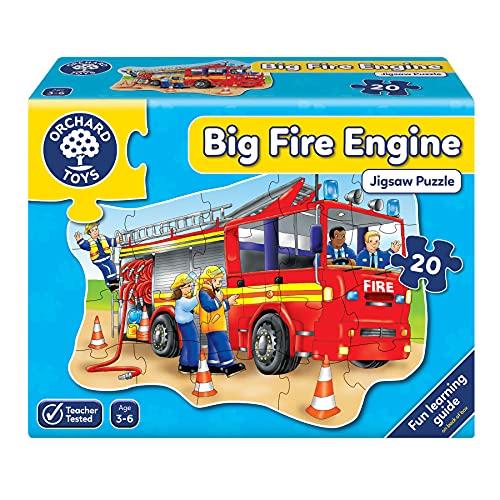 Orchard_Toys 258 Big fire engine - Puzle con dibujo de camión de bomberos (20 piezas, importado de Reino Unido)
