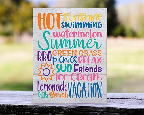 unknow Holz-Sommerschild Hot Sunshine Summer Subway Schild Lemonade Green Grass Thing To Love About Sommer Urlaub Fun Sommerschild Eis