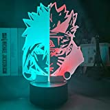 3D Illusion Led Night Light Half Face Naruto Uzumaki and Sasuke Uchiha for Bedroom Decor Light Cool Anime Gift 3D Lamp Hit Color-7_Colors_No_Remote