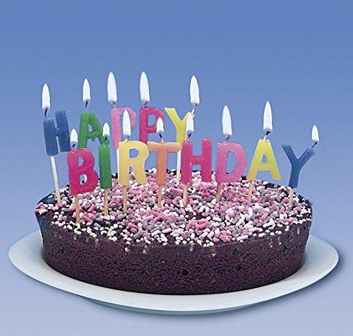 tib 11021 Kerze Happy Birthday Buchstaben, mehrfarbig, Einheitsgröße