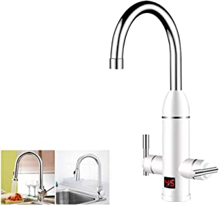 GPFDM Rotatable Electric Water Heater Faucet,Instant Tankless Water Faucet Fast Heating Tap with LED Digital Display Bathroom Kitchen