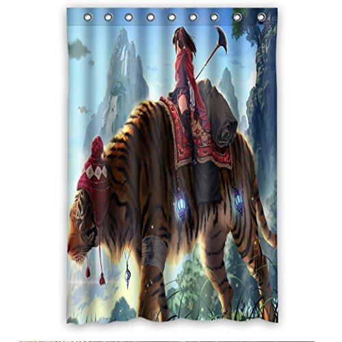 Doubee Personalisiert Animals Tiger Wasserdichtes Duschvorhänge Shower Curtain 48