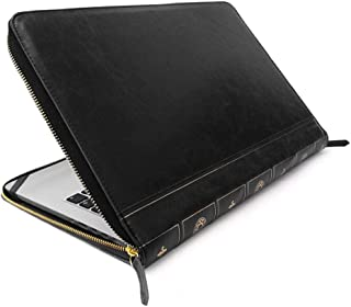 """Vintage Book Style Sleeve Case for 13"""" Macbook Air/Pro (Black)"""