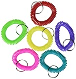 Rhode Island Novelty 2.5 Inch Coil Bracelet Keychains Assorted Colors 12-Pack