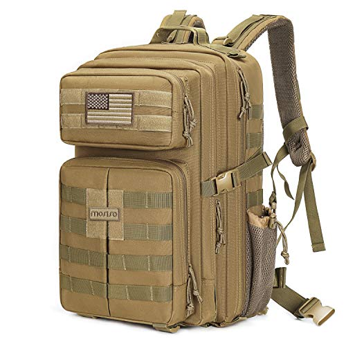 MOSISO Tactical Backpack, 40L 2-Layer...