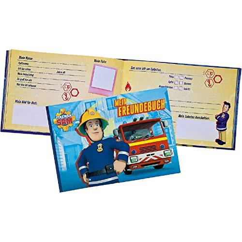 Freundebuch Freundschaftsbuch Erinnerungsalbum Poesiealbum Tagebuch Grundschule Kindergarten Kita kompatibel mit Fireman Feuerwehrmann kompatibel mit Sam Album Buch für Jungen