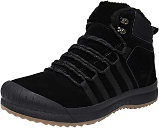 Men's Casual Plus Velvet Warm Cotton Boots Waterproof Hiking Boot Comfortable Lace-up Snow Boots